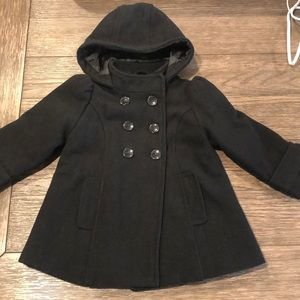 Old Navy Toddler Girls Black Peacoat Sz 2T